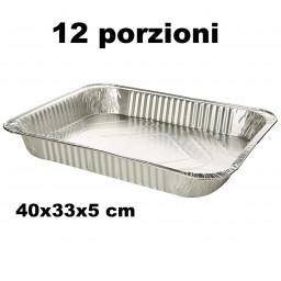 Koking Vaschetta Alluminio Senza Coperchio - 12 Porzioni 40X33X5Cm - 1 Pz