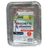 Koking Vaschetta Alluminio Con Coperchio - 4 Porzioni 22X17X4Cm - 3 Pezzi