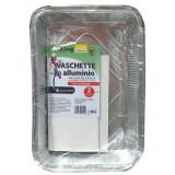 Koking Vaschetta Alluminio Con Coperchio - 6 Porzioni 31X21X5Cm - 2 Pezzi