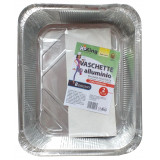 Koking Vaschetta Alluminio Con Coperchio - 8 Porzioni 32X26X5Cm - 2 Pezzi