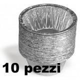Kooking Vaschetta Alluminio Formato Budino O Muffin - 10 Pezzi