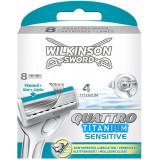 Wilkinson Quattro Titanium Sensitive - Pacco Doppio - 8 Testine Ricambio