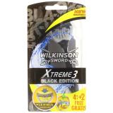 Wilkinson Xtreme3 Rasoi Radi & Getta Trilama - 6 Pezzi - Black Edition