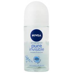 Nivea Deodorante Roll-on 50Ml - 48H No Alcool - Pure Invisible