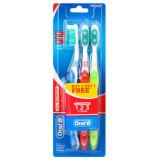Oral-b Spazzolino Da Denti - All Rounder - Medio - 3 Pezzi (2 + 1 Omaggio)