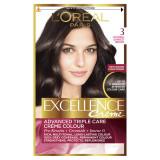 L'oreal Excellance Creme - Crema Colorante Capelli - N.3 Castano Scuro