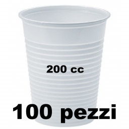 Lariplast Bicchieri Monouso In Plastica Da 200Cc Bianchi - 100 Pezzi
