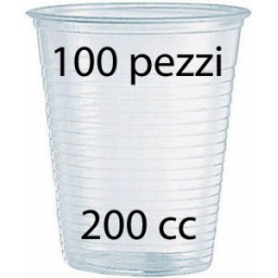 Lariplast Bicchieri Monouso In Plastica Da 200Cc Trasparenti - 100 Pezzi