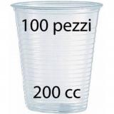 Bicchieri Monouso In Plastica Da 200Cc Trasparenti - 100 Pezzi