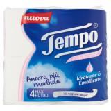 Tempo Carta Igienica - 4 Maxi Rotoli - Pelli Sensibili Idratante Emolliente
