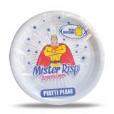 Mister Risp - Piatti Monouso Rigidi Plastica Diamentro 22Cm 45 Pezzi - Piani