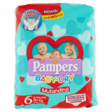 Pampers Baby Dry Mutandino - Taglia 6 Extra Large Xl 15+kg - 14 Pezzi