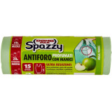 Domopak Spazzy Sacchi Antiforo Profumati 28 Litri - 15 Pezzi - Mela