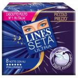 Lines Seta Ultra Assorbenti 8Pz - Notte Con Ali