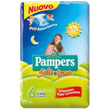 Pampers Sole E Luna Pannolini - Taglia 6 Extra Large Xl 15-30Kg - 13 Pezzi