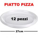 Aristea Piatti Monouso In Plastica Formato Pizza - Diametro 27Cm - 12 Pezzi