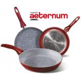 Aeternum Bialetti Tris Padelle 28/24/20 Cm - Rivestimento Particelle Pietra