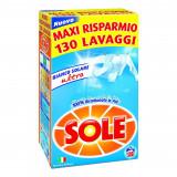 Sole Detersivo Lavatrice In Polvere Fusto 130 Misurini 8.45Kg Bianco Solare