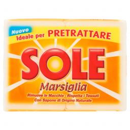 Sole Sapone Da Bucato - 2 Pezzi - 500G - Marsiglia - Bianco