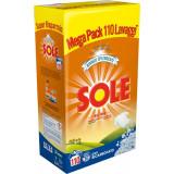 Sole Detersivo Lavatrice In Polvere Fusto 110 Misurini 7.15Kg Bianco Solare