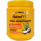 Splend'or Maschera In Crema Per Capelli 1000Ml - Ristrutturante Cocco Bambu'