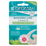 Geomar Maschera Viso - 2 X 7.5Ml - Purificante Effetto Mat - Argilla E Malva