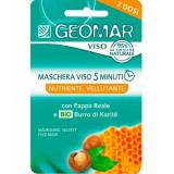 Geomar Maschera Viso - 2 X 7.5Ml - Nutriente Vellutante Pappa Reale E Karite