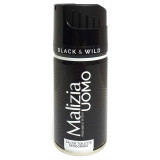 Malizia Uomo Deodorante Spray - 150Ml - Black & Wild