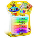 Carioca Fabric Paint - Colori Per Tessuti - Colori Neon - 6 Pezzi