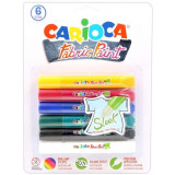 Carioca Fabric Paint - Colori Per Tessuti - Colori Sleek - 6 Pezzi