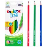 Carioca Tita Colori A Matita - 12 Pastelli - Colori Brillanti