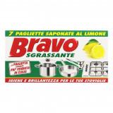 Bravo Pagliette Di Retina Saponata - 7 Pezzi - Tamponi Abrasivi Al Limone