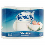 Tenderly Carta Igienica Classica - 12 Rotoli (10+2 Gratis) - Pura Morbidezza