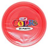 Dopla Piatti Monouso Plastica Formato Dessert O Frutta - 25Pz - Rosso