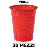 Dopla Bicchieri Monouso In Plastica Da 200Cc - 30 Pezzi - Rossi