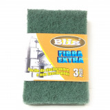 Bliz Fibra Abrasiva Verde Extra 15X10Cm - 3 Pezzi - Risciacquo Facile