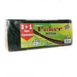 Poker Bliz Spugna Con Abrasivo 8X12X3Cm - 4 Pezzi - Stoviglie E Pentole