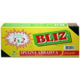 Bliz Spugna Con Abrasivo Extra 8X11X3Cm - 3 Pezzi - Pulito Sicuro