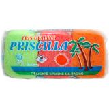 Greta Massage Tris Priscilla Spugne 8X12X4Cm 3 Pezzi - Bagno Pelli Delicate