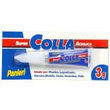 Panleri' Super Adesivo Istantaneo - 3 Grammi - Incolla Rapido Multimateriale