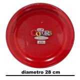 Dopla Piatti Snack Antipasto Diametro 28Cm - 10 Pezzi - Rossi