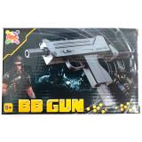 Bbgun Pistola Giocattola Automatica Con Pallini - 15Cm Circa