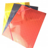 Cartellina In Cartoncino Leggero Con Elastico - Laminata - Vari Colori