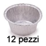 Fatigati Vaschetta Alluminio Formato Budino O Muffin - 12 Pezzi