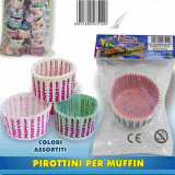 Fatigati Pirottini Da Forno Per Muffin - Colori E Decori Assortiti