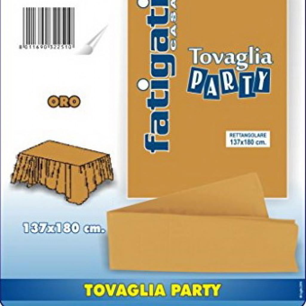 Tovaglia Nera E Oro fatigati tovaglia party monouso 137x180cm - oro