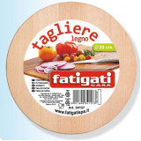 Fatigati Tagliere Da Cucina In Legno - Rotondo - Diametro 20Cm
