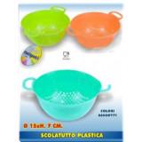 Scolatutto Plastica Diametro 15X7Cm - Colori Assortiti