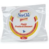 Newchic Piatti Monouso In Plastica Formato Dessert 50Pz Bianchi
