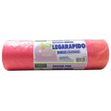 Sacco Pattumiera 55X65Cm 15Pz Profumato - Rosa - Legaveloce Con Maniglie